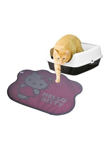Hello Kitty HELLO KITTY ÇİFT KATMANLI KEDİ KUMU PASPASI PATİ 02 Gri